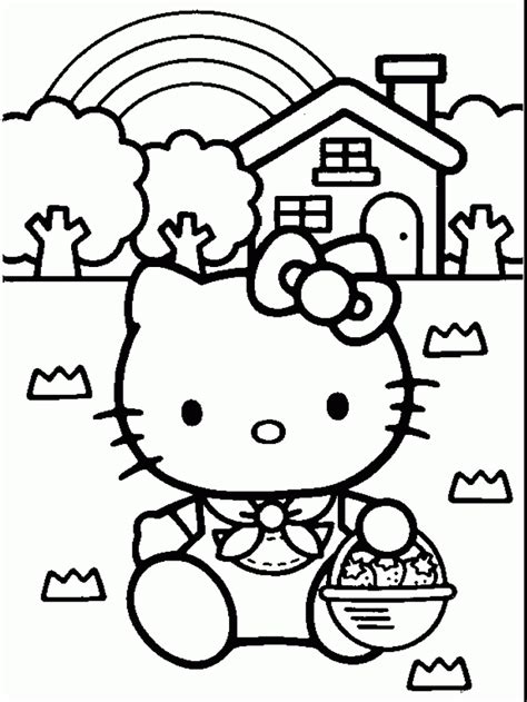 coloring page for hello kitty free coloring pages hello kitty easter coloring pages