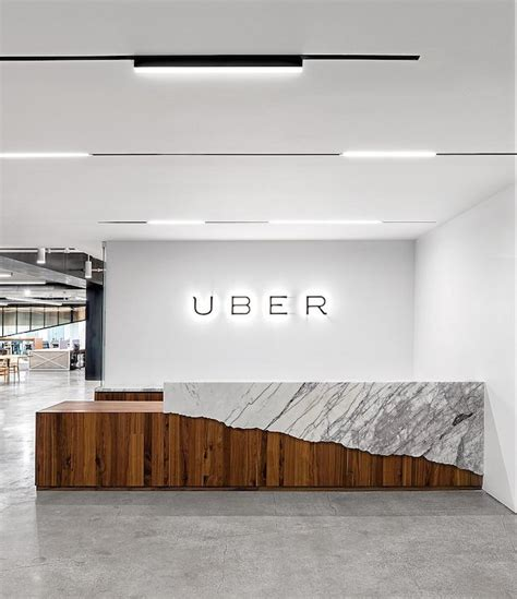 reception desk interior design inside uber office in san francisco receptions studio