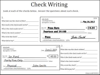 17 Best Ideas About Life Skills Activities On Pinterest Lesson In Checking Account Writing
