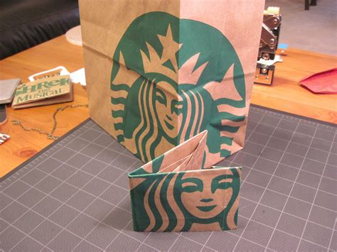 Add Starbucks Gift Card To Wallet - origami starbucks paper bag wallet youtube