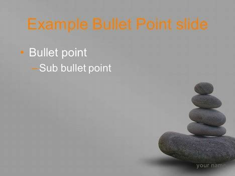 Zen Stones Template Grey Background Zen Presentation Templates