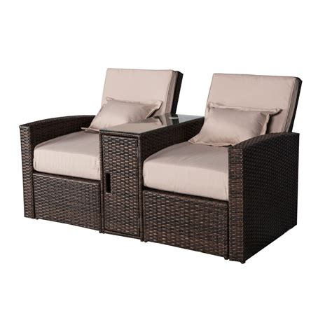 wicker outdoor chaise outsunny 3 piece outdoor rattan wicker chaise lounge