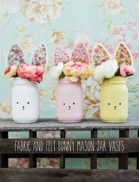colorful jars colorful diy bunny jars