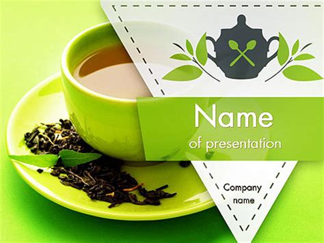 powerpoint templates for kitchen tea green tea cup powerpoint template backgrounds 11431