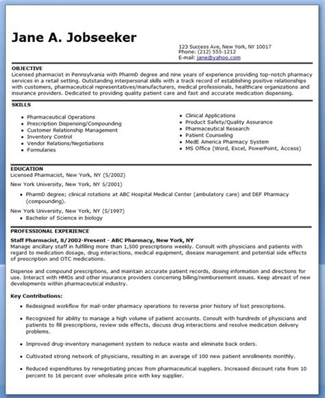 clinical pharmacist resume