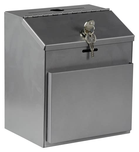 wall mounted locking collection box keyed lock wall mount countertop