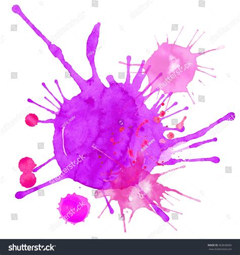 watercolor abstract splash splatter stock illustration 363636665