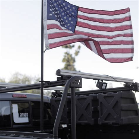 truck bed flag pole mount leitner designs acs flag pole kit adventure ready