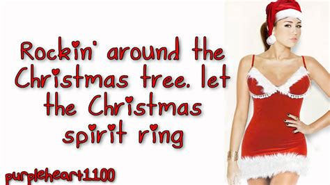 miley cyrus rockin around the christmas tree lyrics