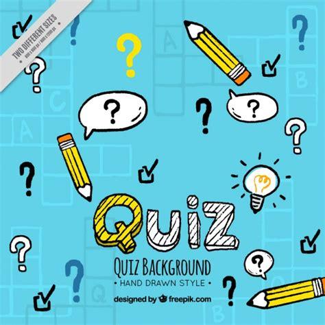 background quiz hand drawn quiz background vector free download