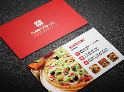 free delicious food business card on behance