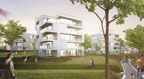 steimle architekten steimle architekten bda wohnbebauung rote wand wettbewerb