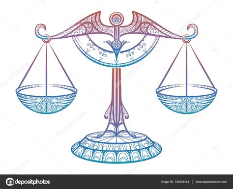 wage oder waage gerechtigkeit waage sternzeichen waage zentangle zeichen