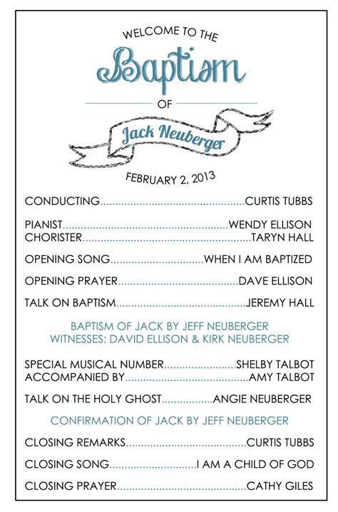 baptism program template printable baptism program lds boy by brendaneuberger