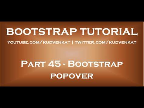 bootstrap tutorial presentation bootstrap popover codebringer