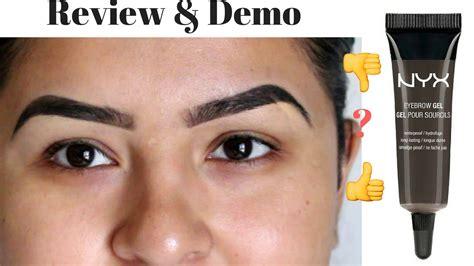 Nyx Eyebrow Mascara nyx eyebrow gel black noir review and demo