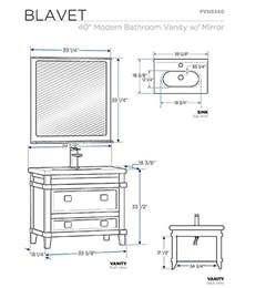 bathroom vanity sizes standard sink size