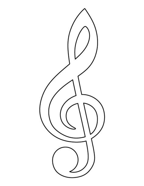 Treble Clef Pattern Use The Printable Outline For Crafts Treble Clef Coloring Page
