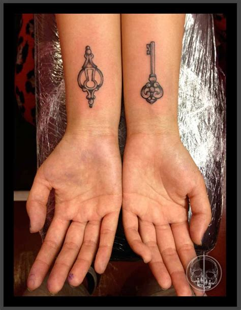 heart and lock tattoos for couples 72 best images on ideas