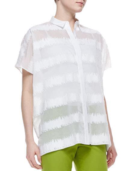salma blouse lafayette 148 new york salma sleeve static blouse white