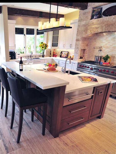 kitchen islands with seating for 2 19 must see practical kitchen island designs with seating
