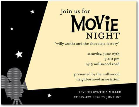 outdoor movie night invitation template outdoor