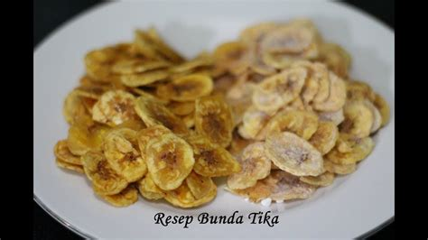resep keripik pisang super renyah  gurih bikin nagih