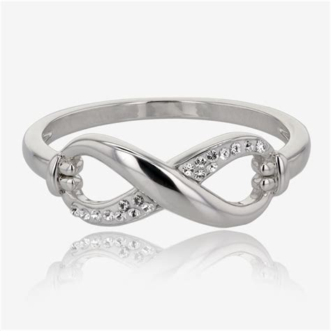 infinity is made by infinity ring made with swarovski 174 crystals