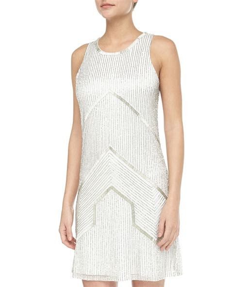 beaded halter dress papell beaded halter cocktail dress ivorysilver