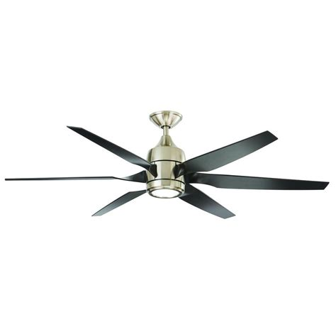 escape ii 60 in led brushed nickel ceiling fan home decorators collection kelbra 60 in led indoor