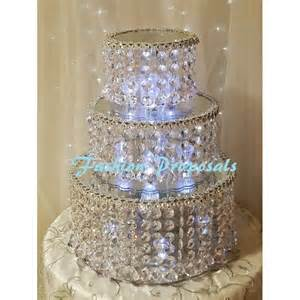 Crystal Chandelier Cake Stand Sale Wedding Double Tier Crystal Cake Stand Double Tier