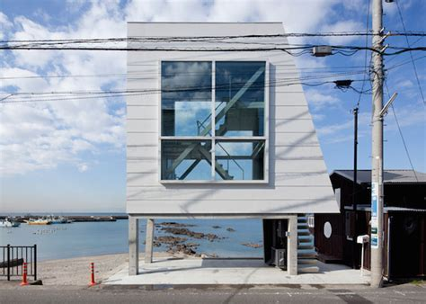 house see through this tiny see through house by the sea offers a space for