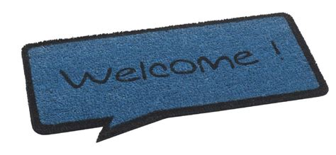 To Mat by Welcome Speech Door Mat Blue And Black