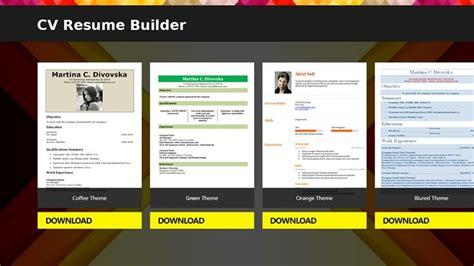 Free Cv Builder by Cv Resume Builder