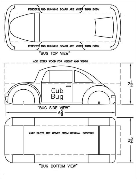 pinewood derby template pinewood derby pinewood