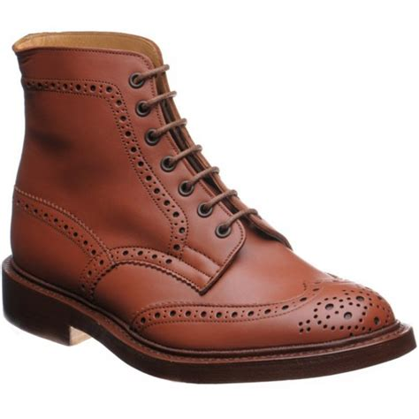 trickers mens malton brogue lace up boot from marshall shoes