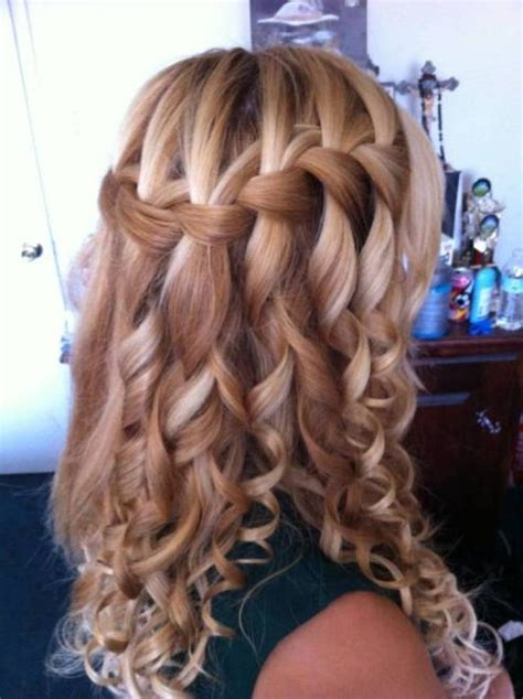 braid hairstyles for long curly hair 11 waterfall french braid hairstyles long hair ideas