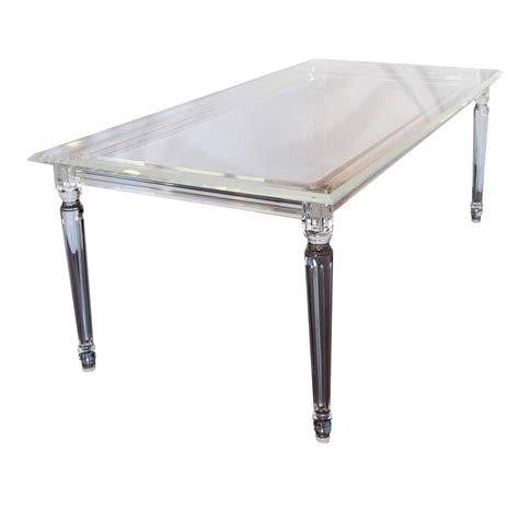 Lucite Table L by Magnificent Lucite Table Desk Or Console For Sale At 1stdibs