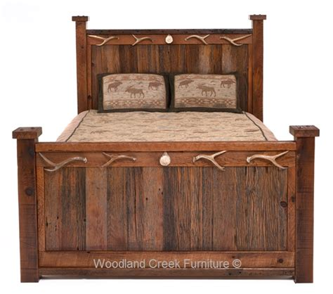 barnwood beds antler u0026 barnwood bed queen custom rustic antler bed barn wood bed western ranch decor