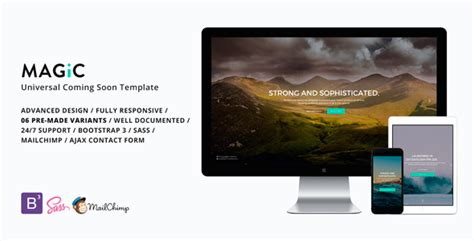Mailchimp Create Template From Caign by Magic Universal Coming Soon Template Theme For U