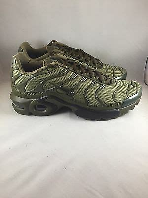 nike air max plus gs tn tuned cargo olive green 655020