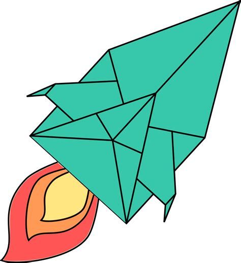 Origami Spaceship - folding physics the mathematics of origami something of