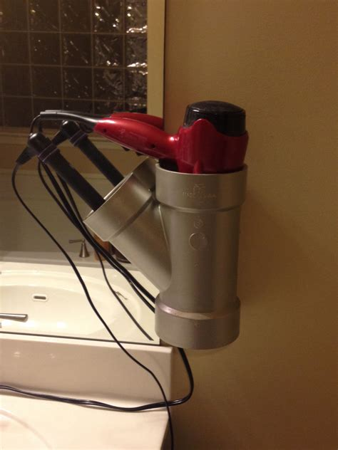 Hair Dryer Holder Bag by Pvc Pipe Hair Dryer And Curling Iron Straightener Holder