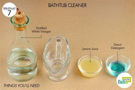 vinegar bathtub cleaner homemade bathroom cleaner vinegar dawn lemon juice homemade ftempo