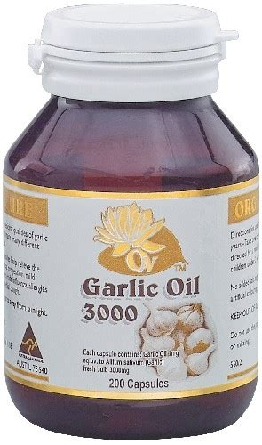 Garlic 3000mg Leaf organic nature herbal extracts