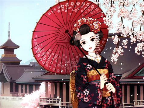 wallpaper cartoon japan japanese geisha in snow cool japanese vintage ukiyo e