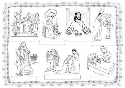 dibujos de los 7 sacramentos 776 best ejercicios de religion images on pinterest