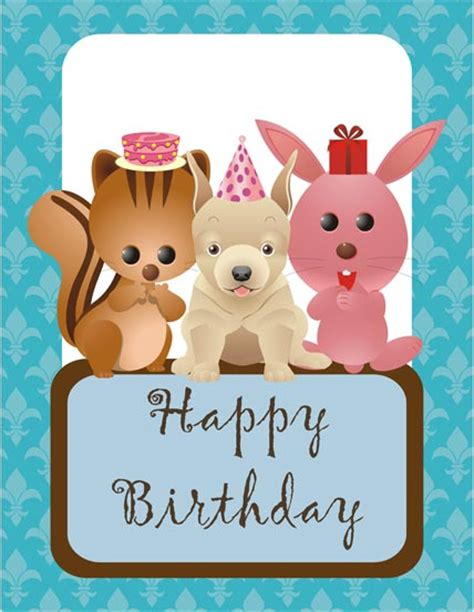 printable animal birthday cards free birthday animals printable greeting card