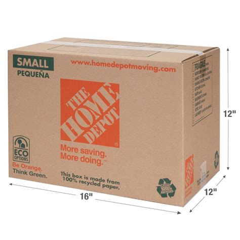 Small Home Depot The Home Depot 16 In L X 12 In W X 12 In D Small Box