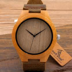 100 Cowhide Leather Reloj Hombre Madera